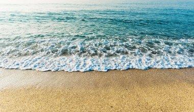 Wave of  sea on   beach