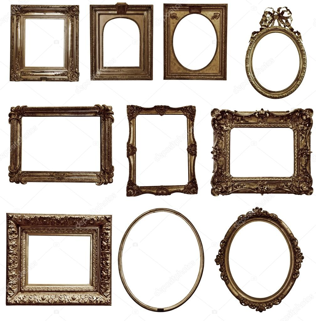 Antique wooden frames — Stock Photo © valphoto #72043959