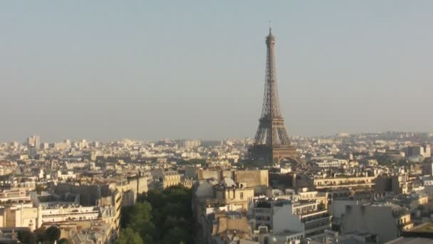 panorama over Paris city