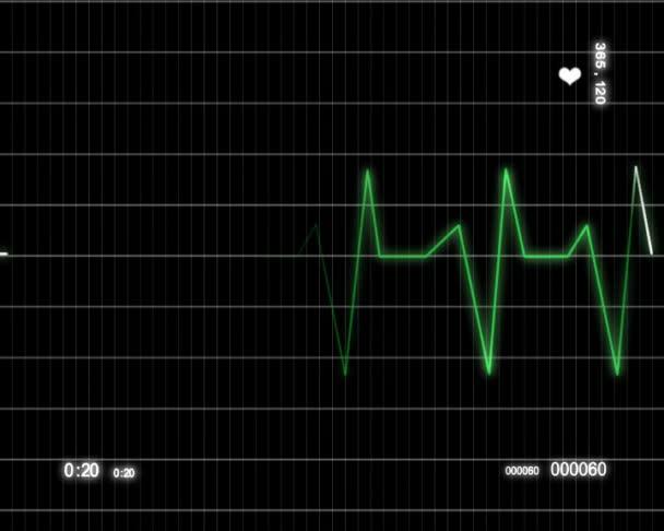 Heart beat pulse ekg