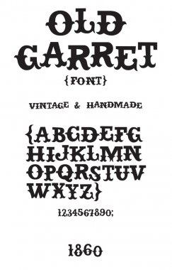 Vintage western font