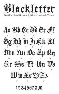 Gothic hand-drawn font