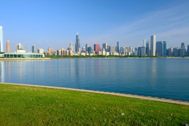 Chicago skyline in morning