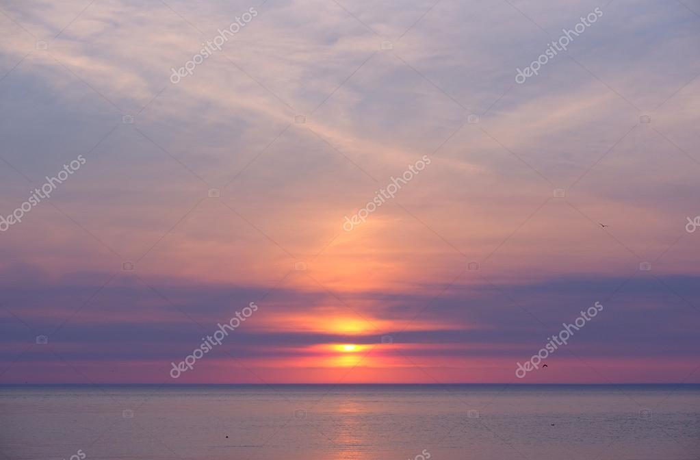 Sunset at Lake Michigan