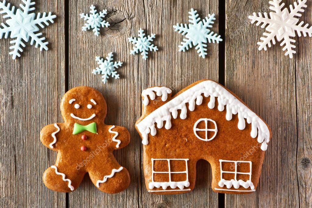 Christmas Gingerbread Man And House Cookies Stock Photo C Haveseen