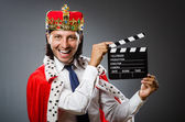 Fotografie Young king businessman in royal concept
