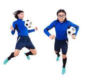fotbalista izolovaných na bílém pozadí