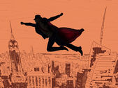 Photo Superman and the city in concept