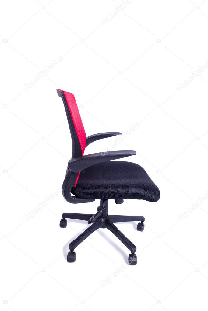 Chaise Sur Photographie Bureau Blanc Elnur Fond De — Rouge Isolé NnO80ywvm