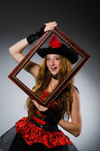 žena pirát s rámečku obrázku