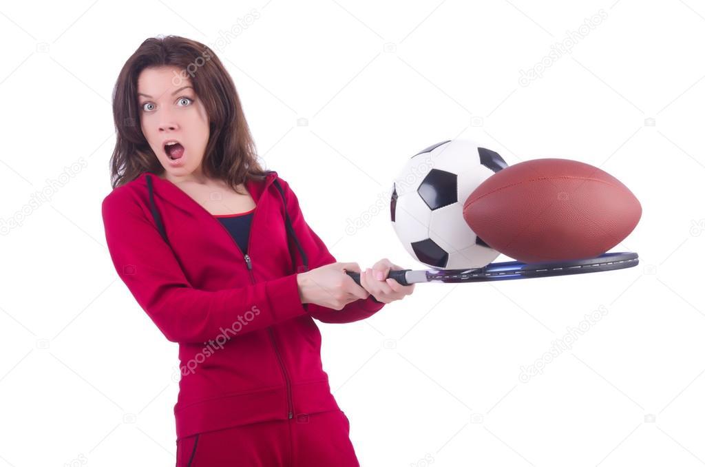 Vrouw In Rood Kostuum In Sporten Sport Concept Stockfoto C Elnur