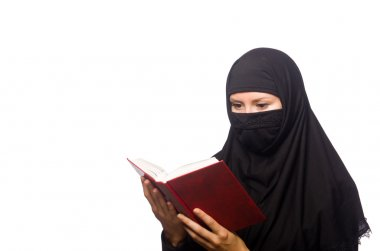 Muslim woman with book