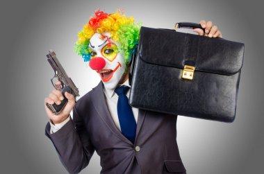 Clown with gun
