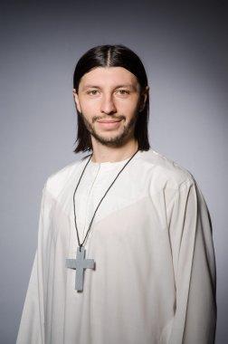 Priest man in religious concept stock vector