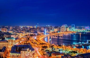 Night view of Baku
