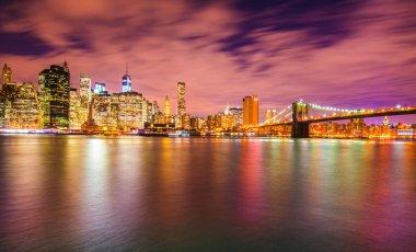 Night panorama of Manhattan