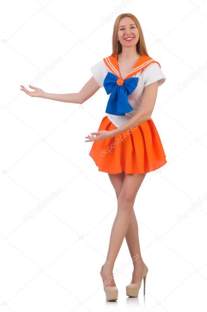 Nacktes Model In Sailor Moon Kostüm Stockfoto Elnur 68032049