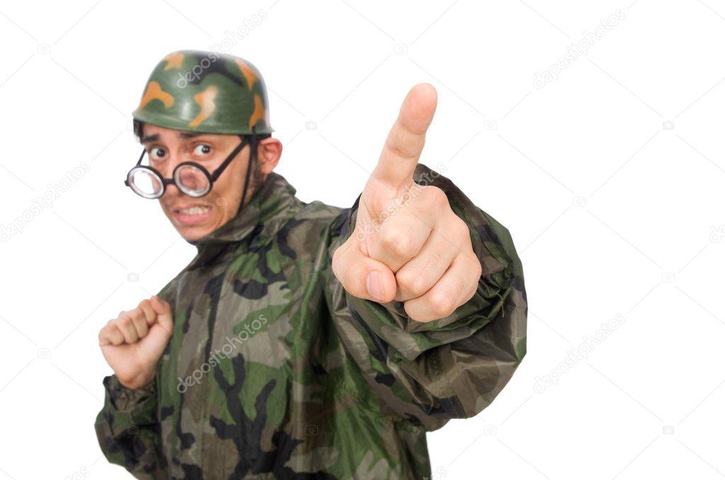 Militärischer Mann