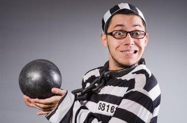 Funny prisoner in chains
