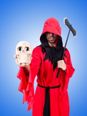 Executioner in red costume