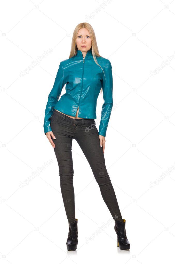 f9aeee12499dbd depositphotos 77391416-stockafbeelding-mooie-vrouw-in-blauw-lederen.jpg