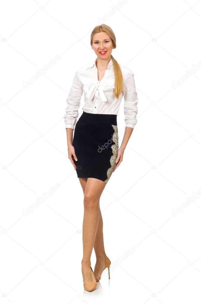 Abbigliamento Donna In Bianco Su Ufficio Isolato Classico PwTH5rfwq