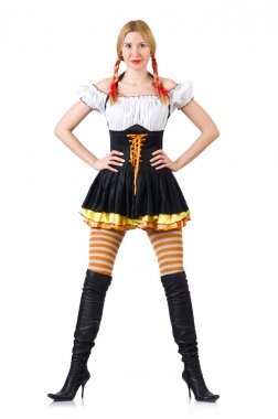 Woman in bavarian costume
