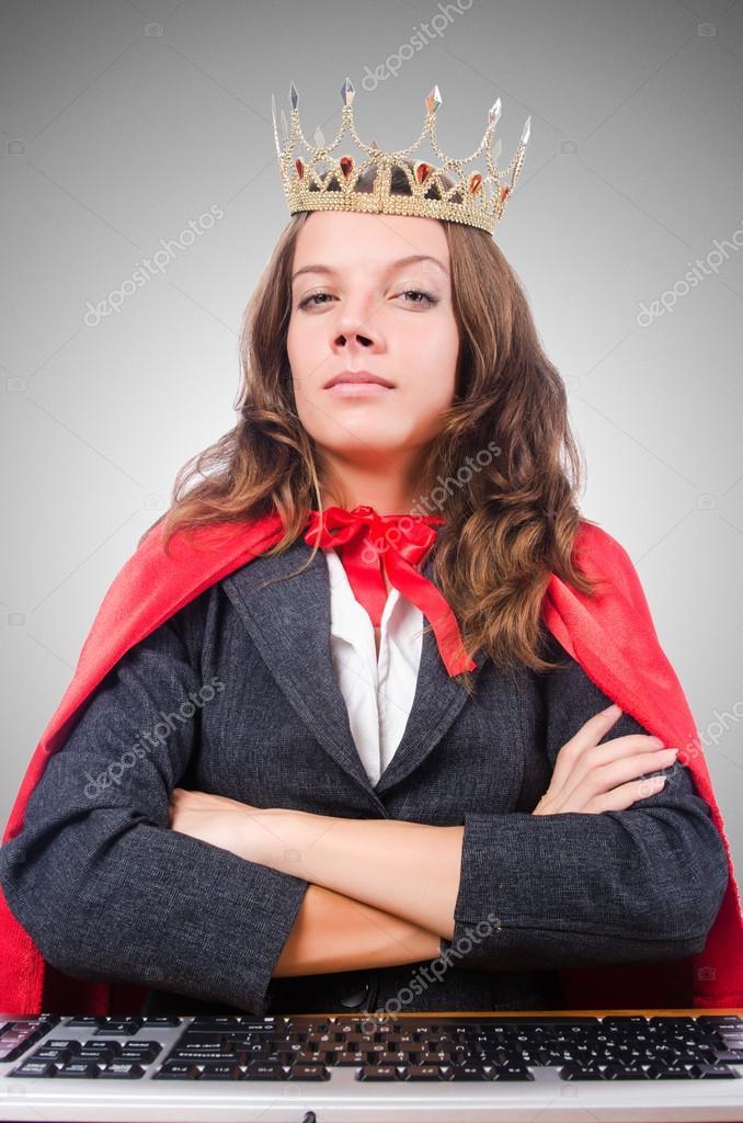 Isoliert Auf Den Grauen Buro Queen Stockfoto C Elnur 84433870