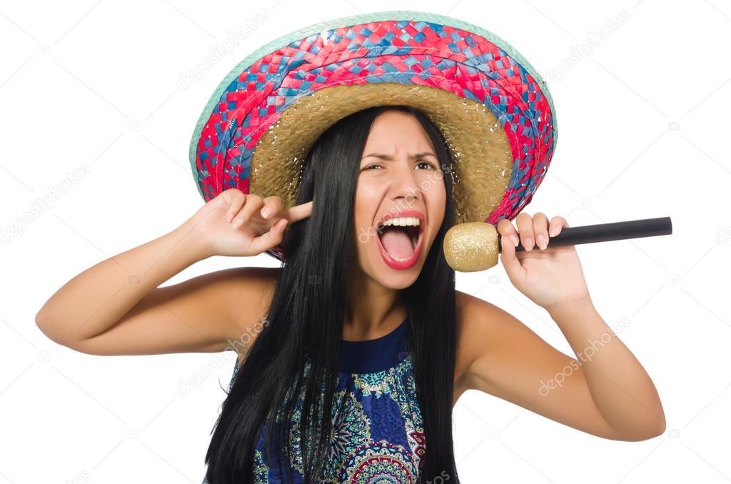 Frau sombrero junge frau alte Alte Frauen