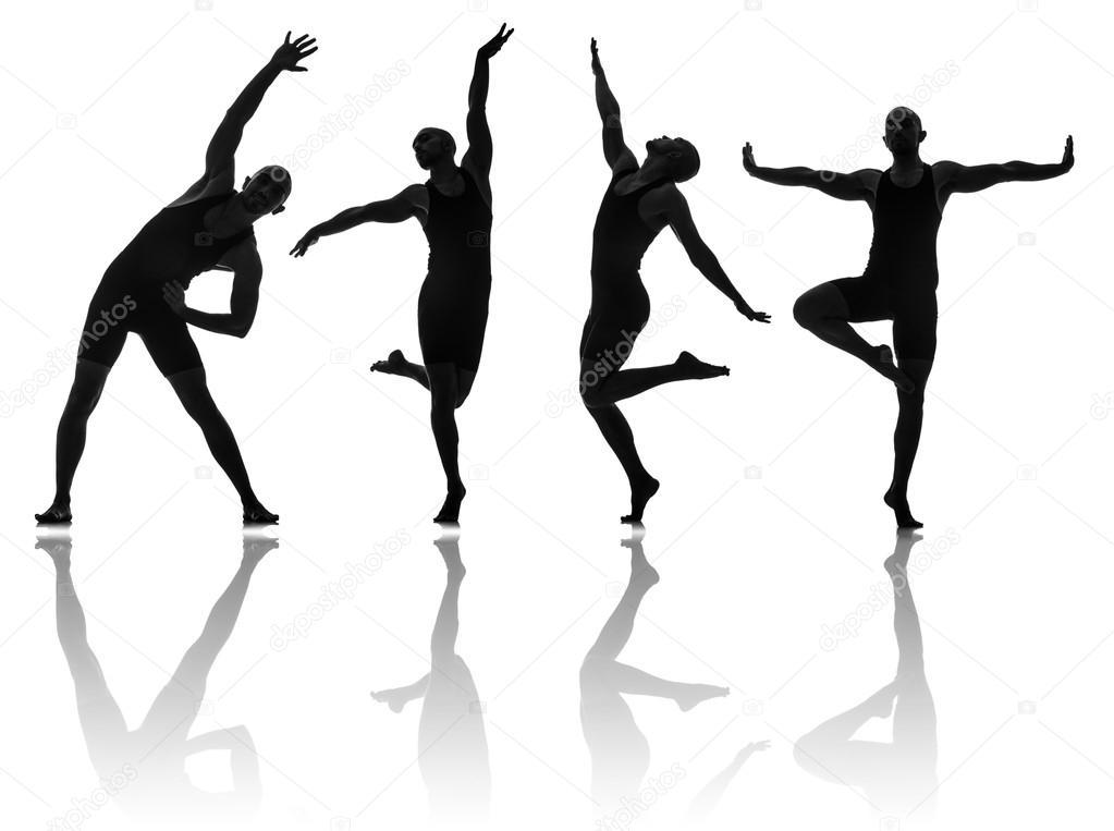 Siluetas De Bailarines De Danzas Concepto