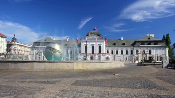 Celkový pohled na náměstí před prezidentský palác, Bratislava