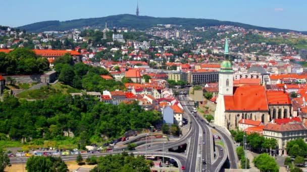 Obecné letní pohled Bratislava, Slovensko