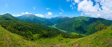 Beautiful mountain landscape, Caucasus, Russia. View of the Big Caucasian ridge