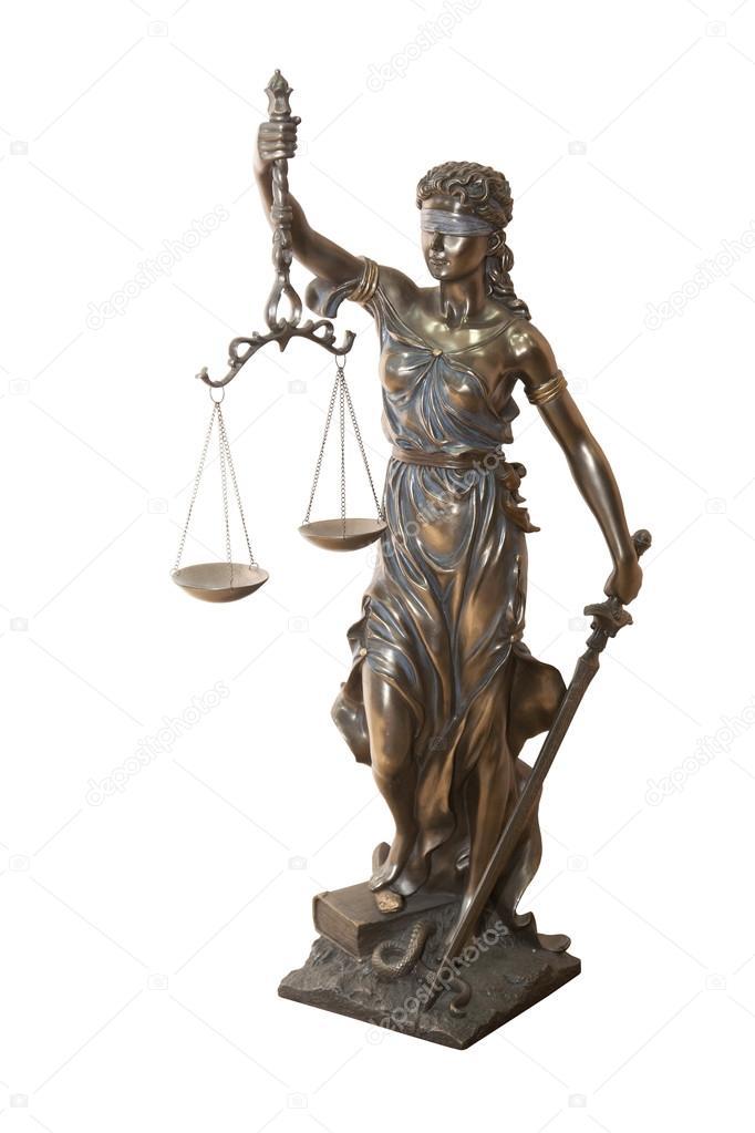 Themis Mythological Greek Goddess Symbol Of Justice Stock Photo