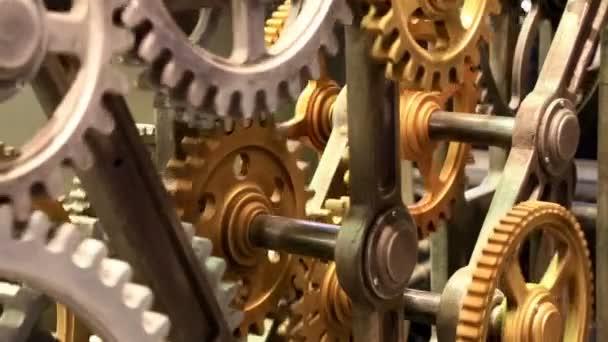 Mechanical gears turning