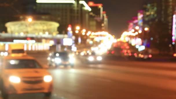 Élénk fények éjszaka forgalom
