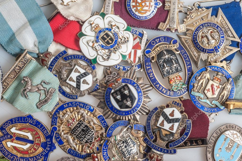 Royal masonic medals — Stock Photo © grafnata #64597105