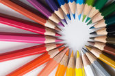 barevné tužky, umělecké pozadí