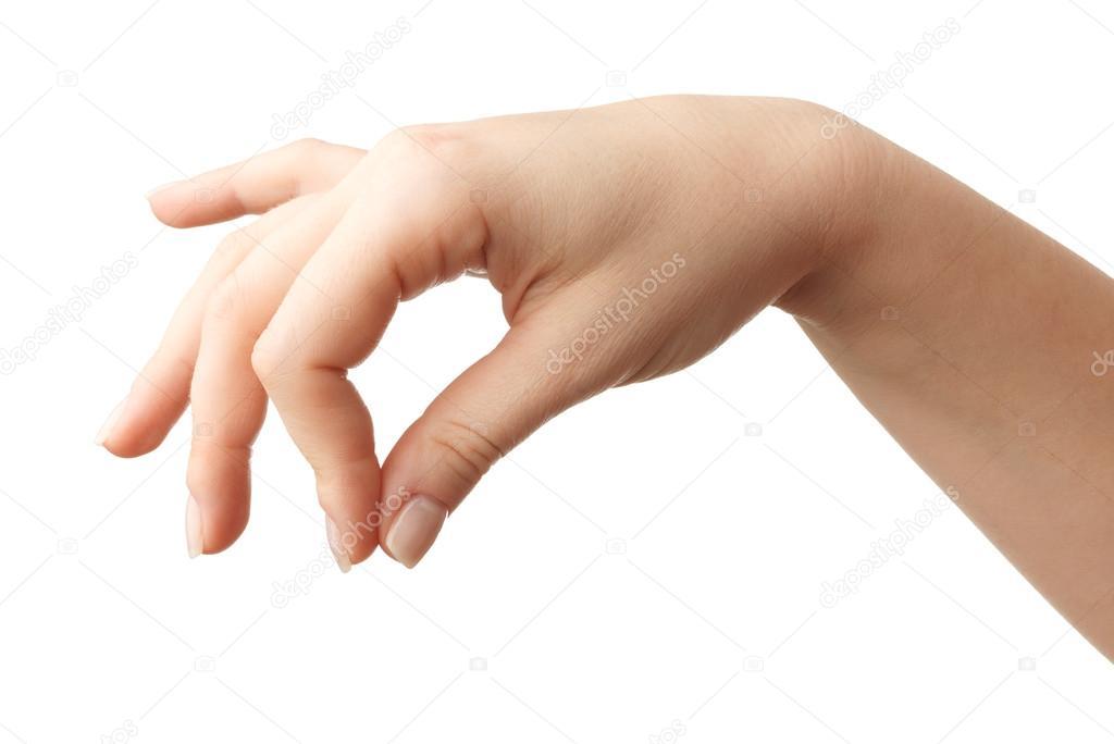 Woman Hand gesture