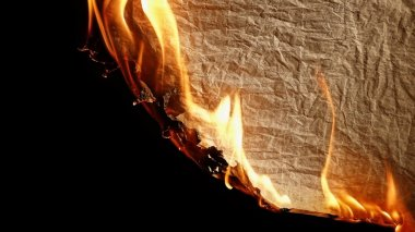Burning old paper.