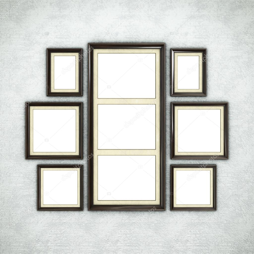 Wooden frame on wallpaper — Stock Photo © Irochka #117257750