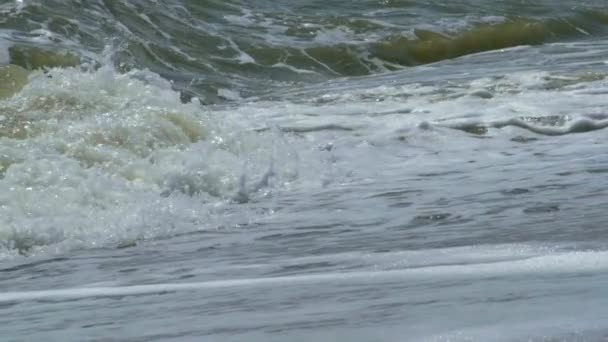 Waves breaking on a seashore