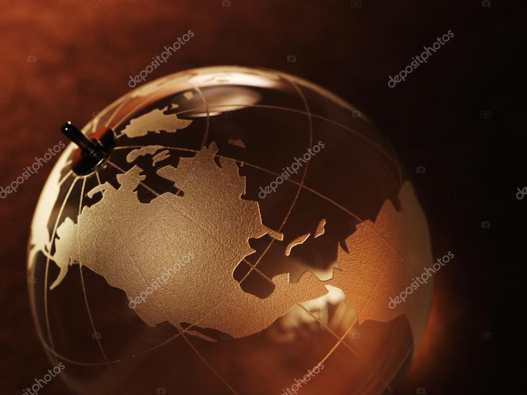 Glass ball with world map stock photo irochka 71314487 glass ball with a picture of a world map on vintage paper background photo by irochka gumiabroncs Images