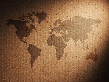 World map displayed