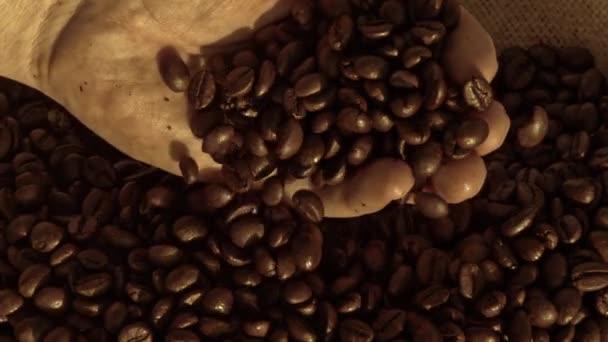 Hand nehmen Kaffeebohnen