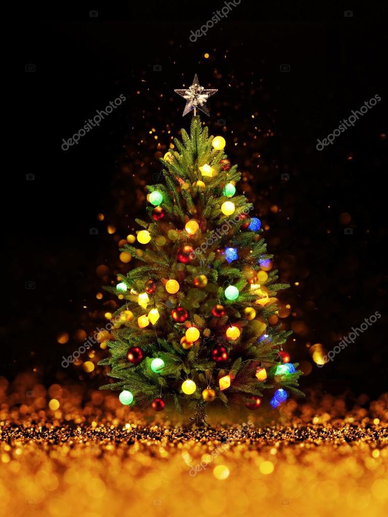Kerstboom Van De Kerstverlichting Stockfoto C Irochka 90702400