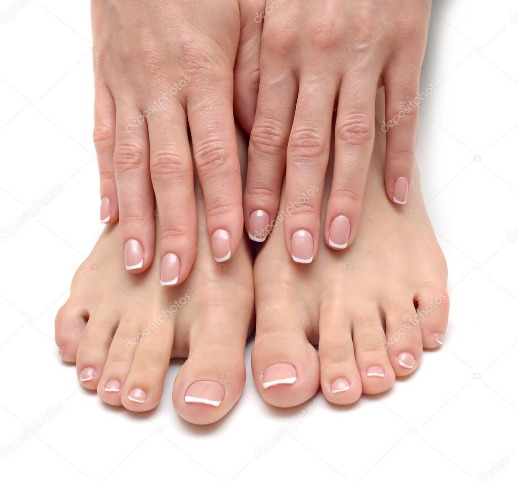 Bei piedi femminili al salone della stazione termale for Piani di fattoria di 2000 piedi quadrati