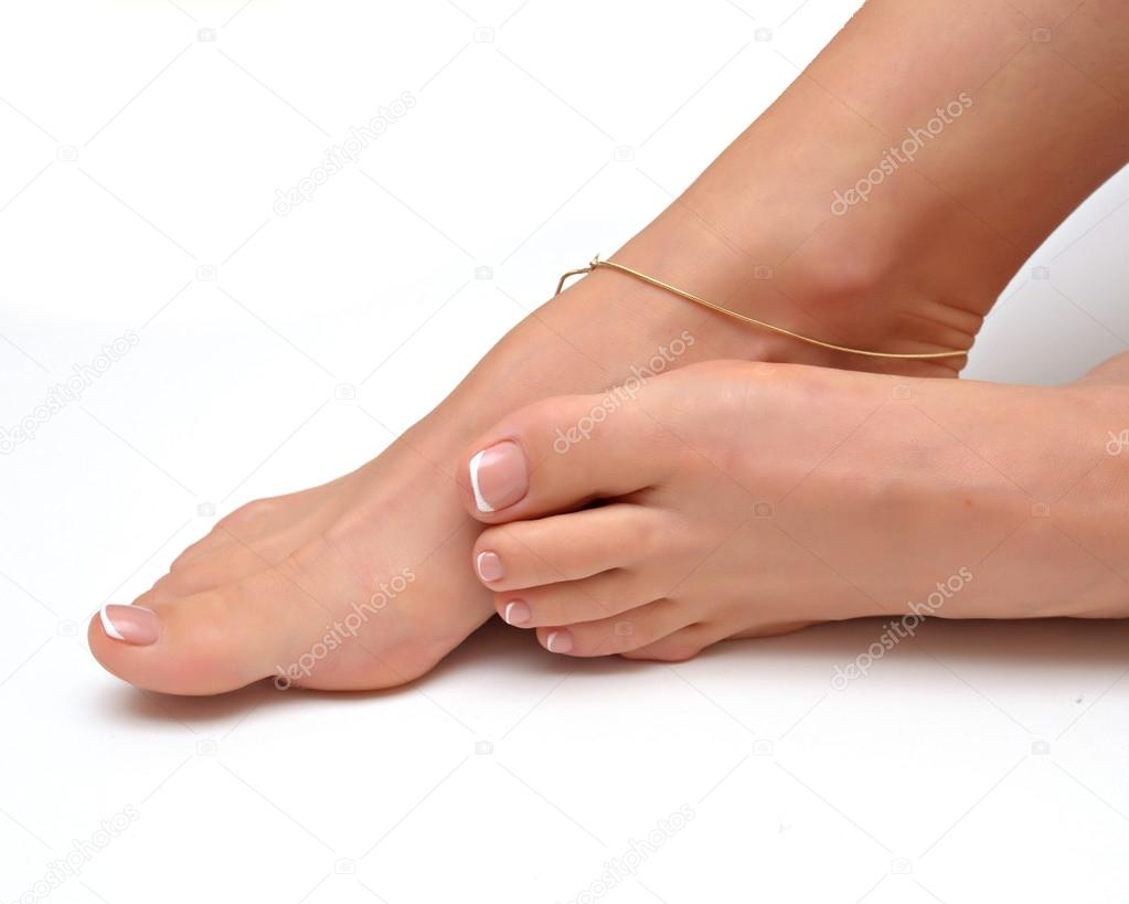 beautiful female feet at spa salon stock photo fineshine 53512991. Black Bedroom Furniture Sets. Home Design Ideas
