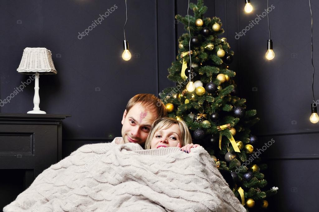 Beautiful Romantic Couple Posing At Home Stock Photo Fineshine