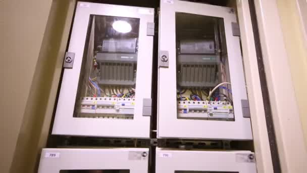 depositphotos_104091878 stock video box with electrical equipment in new type trip switch fuse box stock video � 3dmentat 78410772 trip switch fuse box at gsmx.co